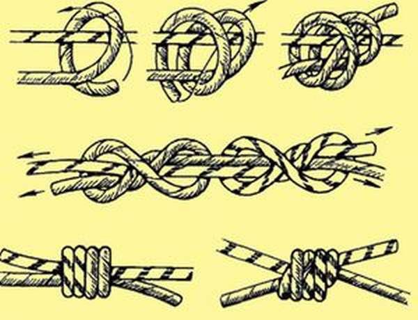 Как вязать морской узел