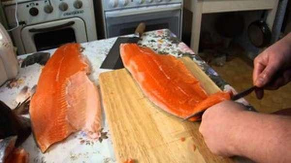 Описание процесса приготовления балыка из рыбы