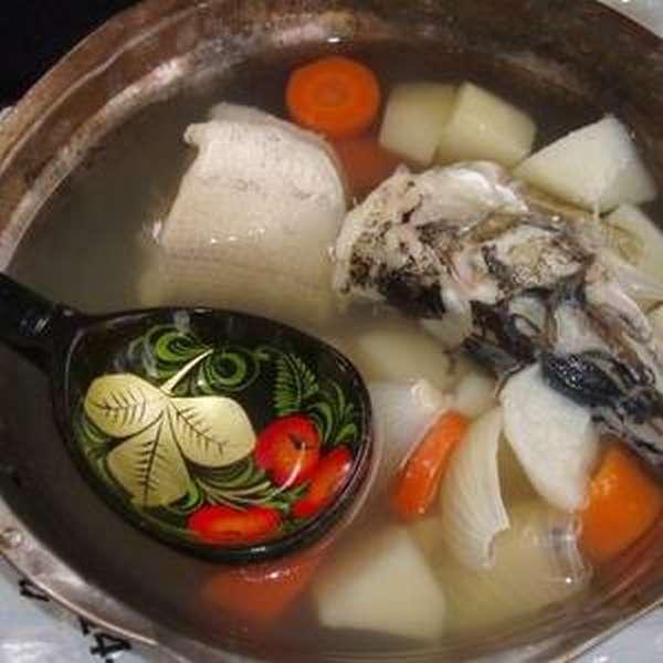 Рыбный суп из скумбрии свежемороженой