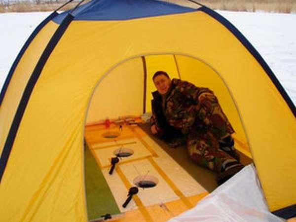 Виды палаток для зимней рыбалки