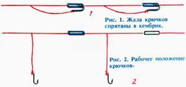 Правила привязывания двух крючков