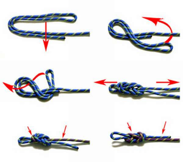 Как завязать узел восьмерка