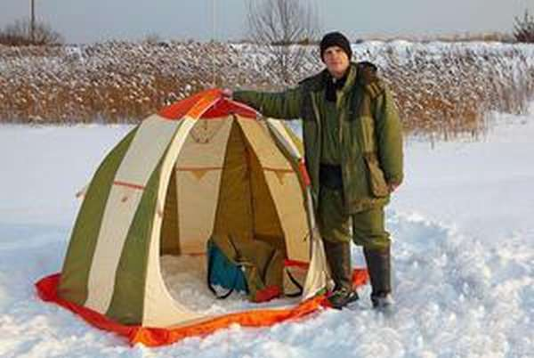 Зимние рыболовные палатки своими руками