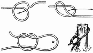 Как правильно затянуть узел петли