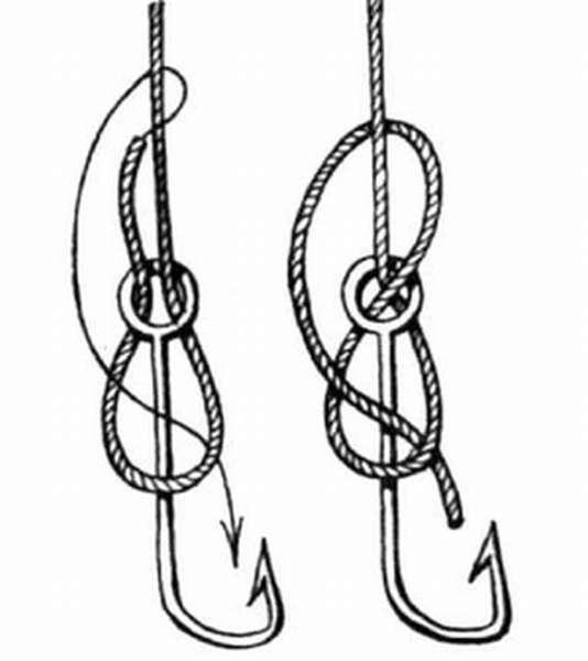 Узлы для привязывания крючка