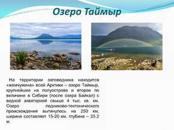 География озера Таймыр