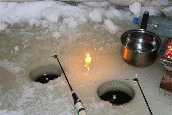 Ночная рыбалка зимой