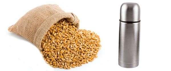 Пшеница и термос