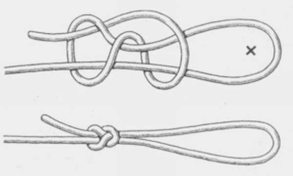 Как сделать самозатягивающийся узел